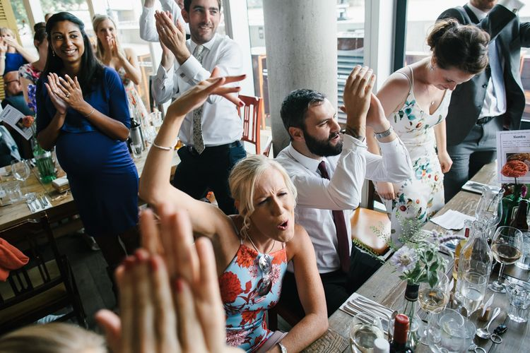 Wedding Guests | Bright Wedding at The Oyster Shed in London | Chris Barber Photography