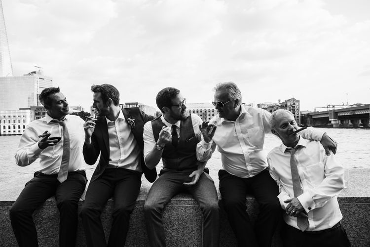 Groomsmen | Bright Wedding at The Oyster Shed in London | Chris Barber Photography