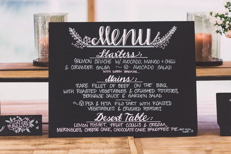 Chalkboard Menu Wedding Sign