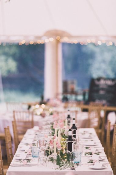 Blush Pink Marquee Reception
