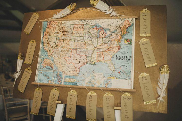Antique Map Table Plan