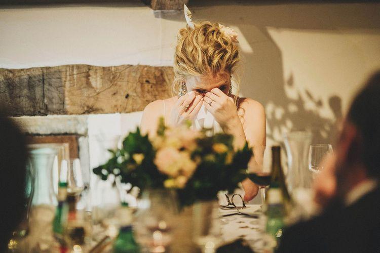 Emotional Bride During Speech