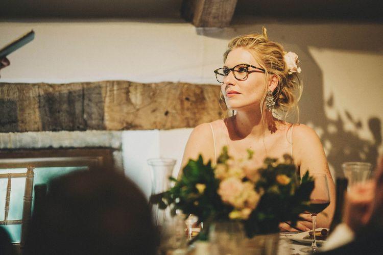 Bride during Wedding Reception Speeches