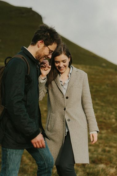 Pre Wedding Shoot In The Brecon Beacons With Images By Millie Benbow Photography | Rebecca & Karl Wildflower Illustration Co.