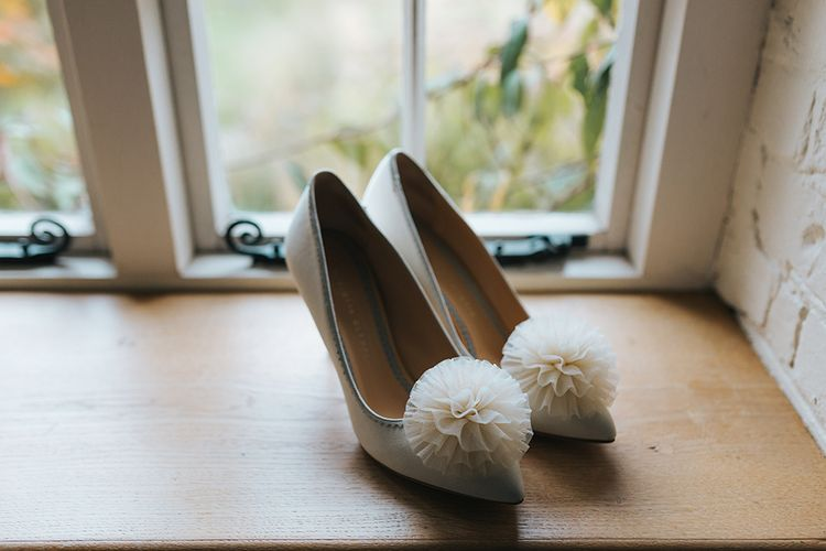 Charlotte Olympia Desiree Pom Pom Bridal Shoes