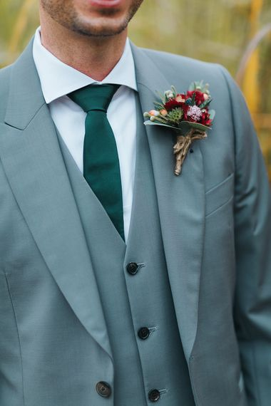 Groom in Paul Smith Suit