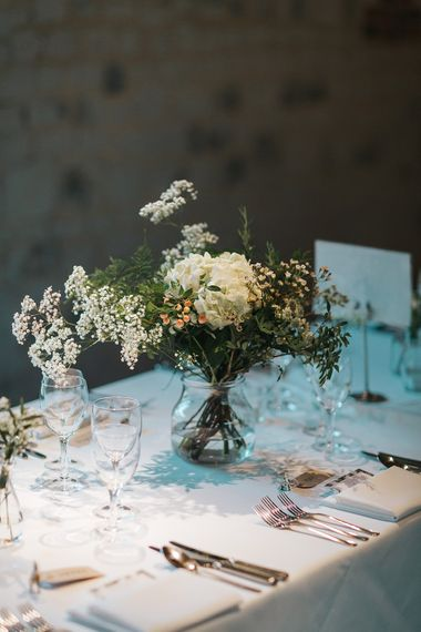 Wild Flower Stems in Vases Wedding Decor