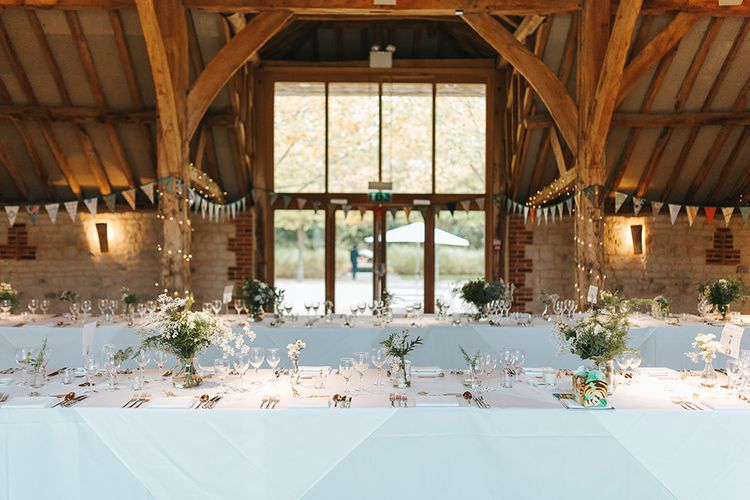 Rustic Barn Wedding Reception at The Barn at Bury Court in Surrey