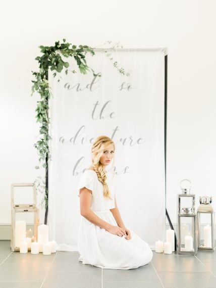 And so The Adventure Begins Altar | Bride in Ailsa Munro Separates | Rivercatcher Intimate Wedding Inspiration | Jade Leung Wedding Design | Heledd Roberts Photography