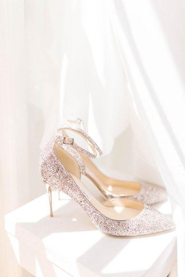 Glitter Jimmy Choo Wedding Shoes