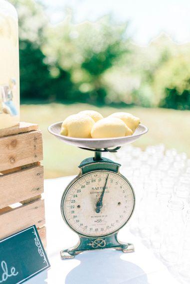 Rustic Lemonade Stand For Summer Wedding