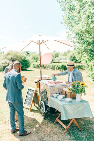 Gorgeous Handmade Pastel Rustic Tipi Wedding At The Gardens Yalding With Bride In Long Sleeved Lace Gown & Images From Sarah Jane Ethan Photography