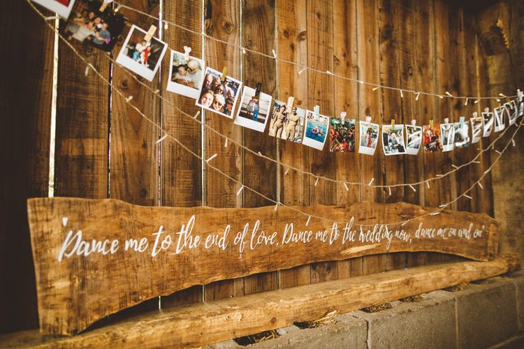 Wedding Polaroid Display // Daisy By Halfpenny London For A Boho Barn Wedding In Yorkshire With Decor By Wild At Heart Weddings Images By Photography 34