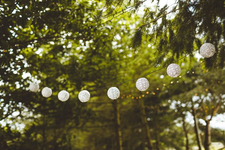 White Lanterns For Wedding // Daisy By Halfpenny London For A Boho Barn Wedding In Yorkshire With Decor By Wild At Heart Weddings Images By Photography 34
