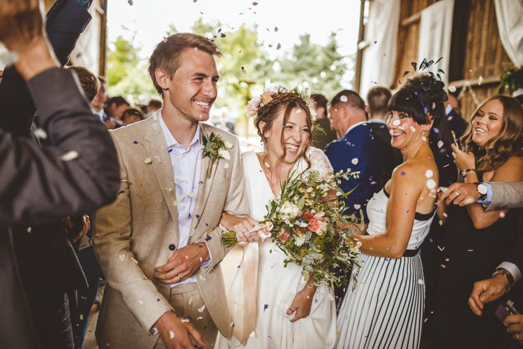 Humanist Wedding Ceremony // Daisy By Halfpenny London For A Boho Barn Wedding In Yorkshire With Decor By Wild At Heart Weddings Images By Photography 34