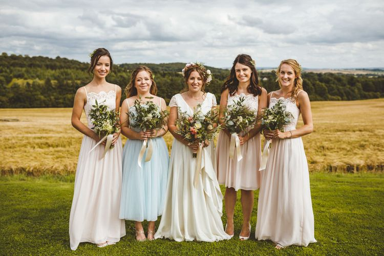 Ted Baker Bridesmaids Dresses // Daisy By Halfpenny London For A Boho Barn Wedding In Yorkshire With Decor By Wild At Heart Weddings Images By Photography 34