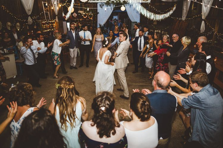 Wedding Ceilidh // Daisy By Halfpenny London For A Boho Barn Wedding In Yorkshire With Decor By Wild At Heart Weddings Images By Photography 34