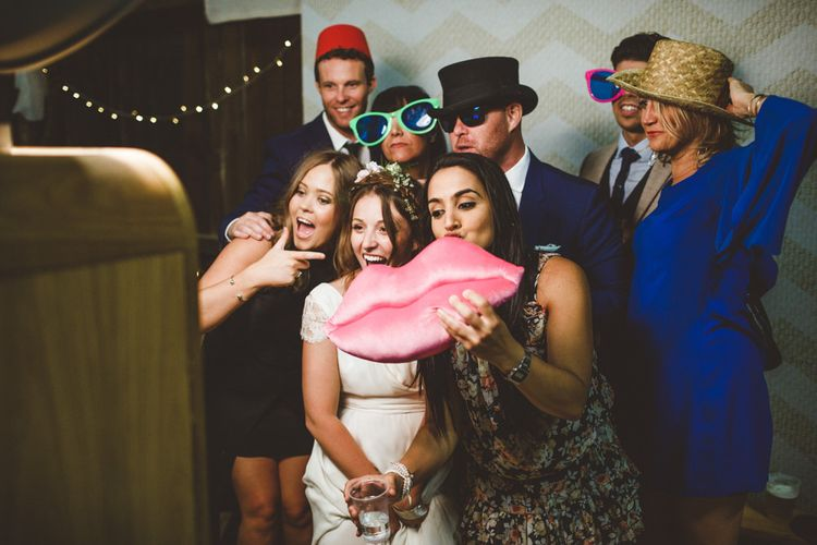 Wedding Photo Booth // Daisy By Halfpenny London For A Boho Barn Wedding In Yorkshire With Decor By Wild At Heart Weddings Images By Photography 34