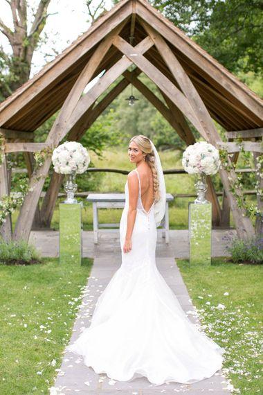 Bride in Anita Massarella Baridal Gown | Millbridge Court, Surrey | Anneli Marinovich Photography