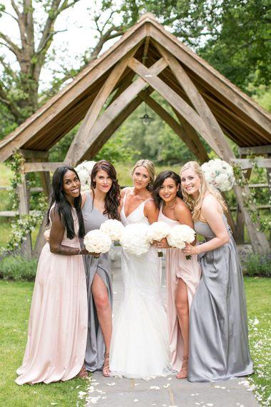 Bridesmaids in Pastel Vera Wang Dresses | Bride in Anita Massarella Bridal Gown | Anneli Marinovich Photography