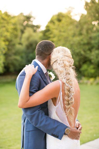 Bride in Anita Massarella Baridal Gown | Groom in Navy Cad and The Dndy Suit | Millbridge Court, Surrey | Anneli Marinovich Photography