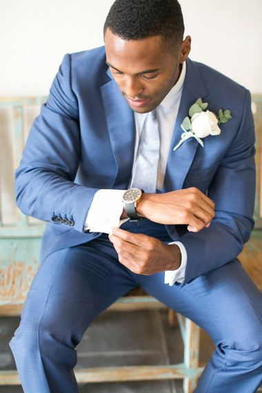 Groom in Navy Cad and The Dandy Suit | | Anneli Marinovich Photography