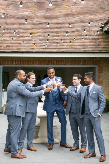 Groom in Cad and The Dandy | Groomsmen in Moss Bros. Suits | Anneli Marinovich Photography