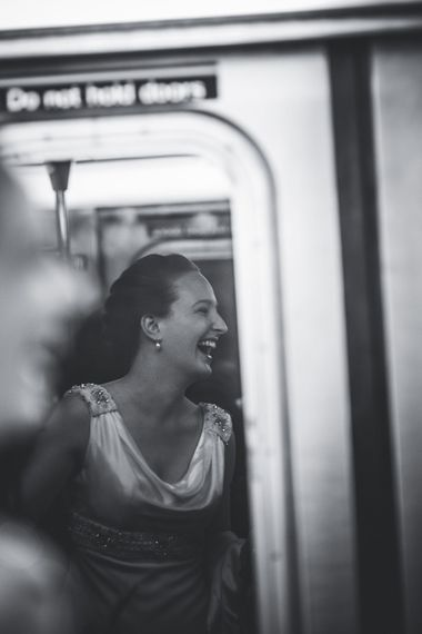 Subway   Bride in Anoushka G. Gown   Intimate New York Wedding   Claire Penn Photography
