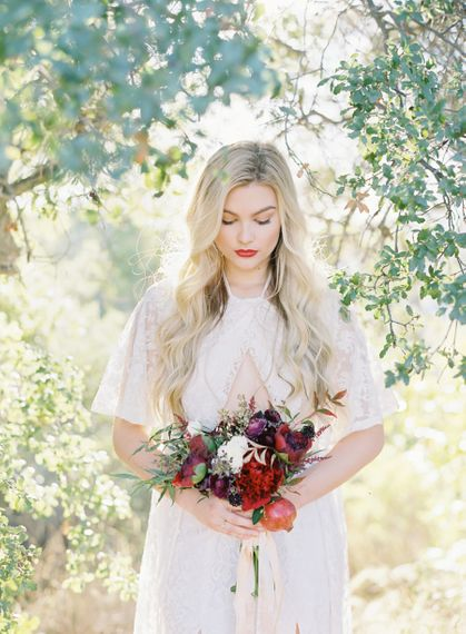 Ruby Woo by Mac Cosmetics Bridal Lipstick | Image by The Great Romance Photography