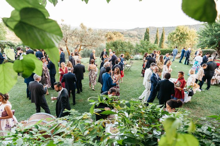 Italian Countryside   Outdoor Drinks Reception