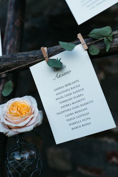 Table Plan Wedding Stationery