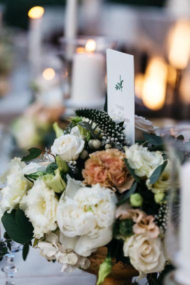 Elegant Peach & White Floral Arrangement
