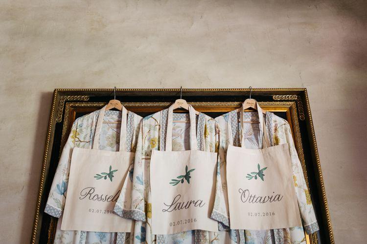 Matching Robes & Personalised Tote Bag Bridesmaid Thank You Gifts