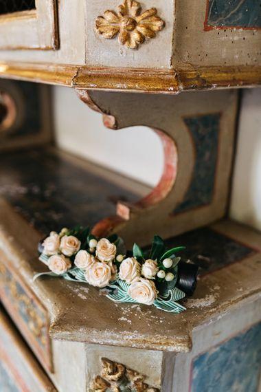 Delicate Peach Rose Bridesmaid Wrist Corsages