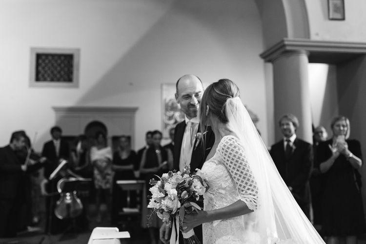 Bride & Groom at the Altar   Wedding Ceremony