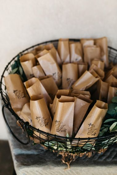 Brown Paper Confetti Bags