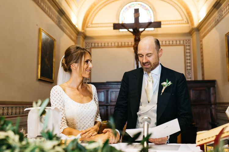 Bride & Groom   Italian Church Wedding