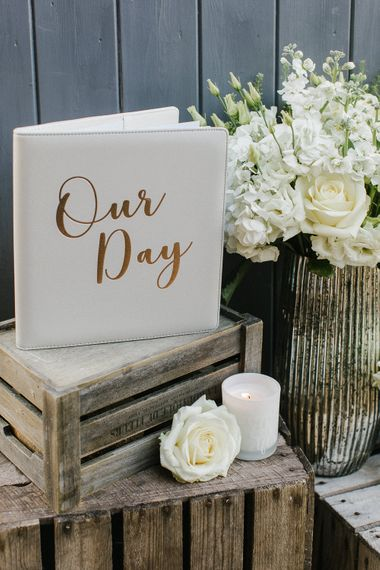 Grey & Gold Wedding Guest Book From Sainsbury's Home // Wedding Details From The Sainsbury's Home Wedding Collection