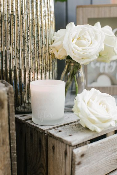 Happily Ever After Candle From The Sainsbury's Home Wedding Collection