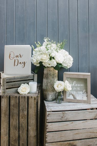 Wedding Memories Box, Wedding Guest Book, Happily Ever After Candle & Mercury Vase From The Sainsbury's Home Wedding Collection
