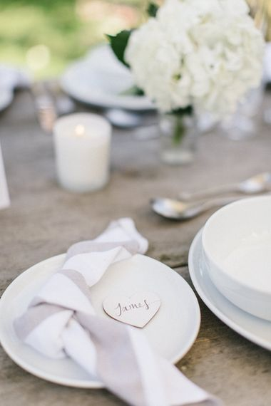 White & Grey Table Ware And 'Happily Ever After' Candle From Sainsbury's Home
