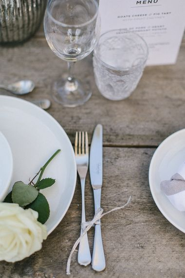White & Silver Table Ware From Sainsbury's Home For Wedding