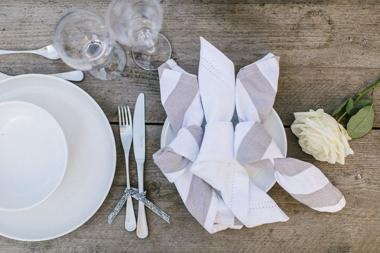 Grey & White Table Linen From Sainsbury's Home