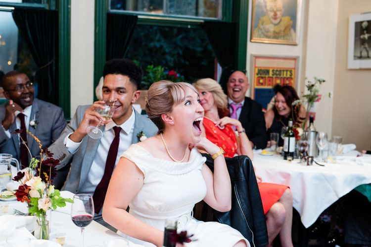 Speeches | 60s Inspired London Pub Wedding | The Peasant | Babb Photo