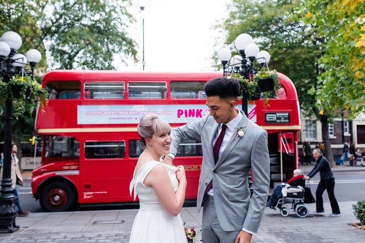 Red Double Decker Bus | Islington Town Hall Wedding Ceremony | Babb Photo