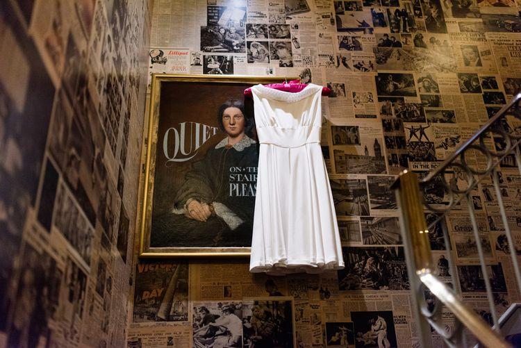 Bespoke Tea Length Wedding Dress | 60s Inspired London Pub Wedding | The Peasant | Babb Photo