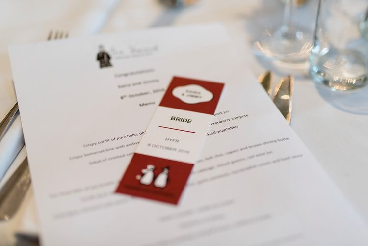 Vintage Penguin Books Place Card | 60s Inspired London Pub Wedding | The Peasant | Babb Photo