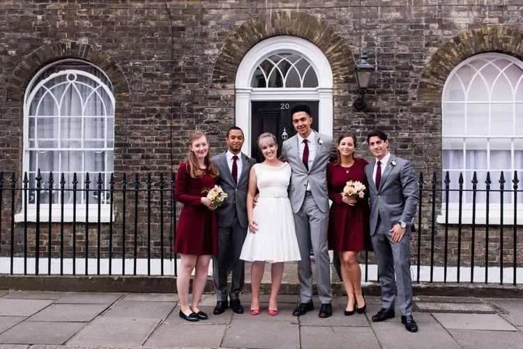 Wedding Party | 60s Inspired London Pub Wedding | The Peasant | Babb Photo
