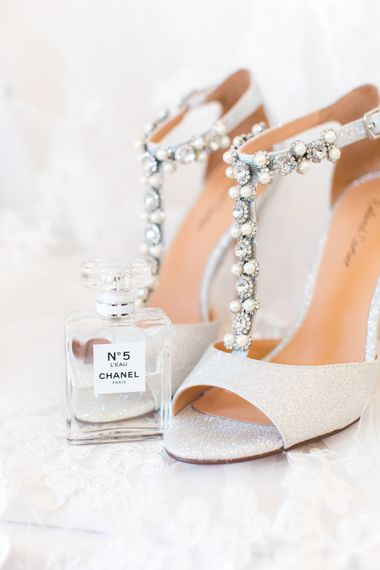 Shoes | Woodland Fairy Tale | Backyard Wedding | Summer Lily Studio | Oleg Cassini at David's Bridal