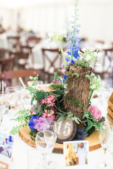 Woodland Centerpieces | Woodland Fairy Tale | Backyard Wedding | Summer Lily Studio | Oleg Cassini at David's Bridal